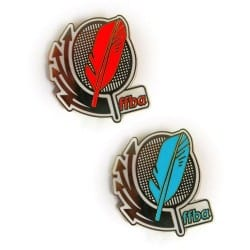 Pack de Broches rouges et bleues FF-Badminton