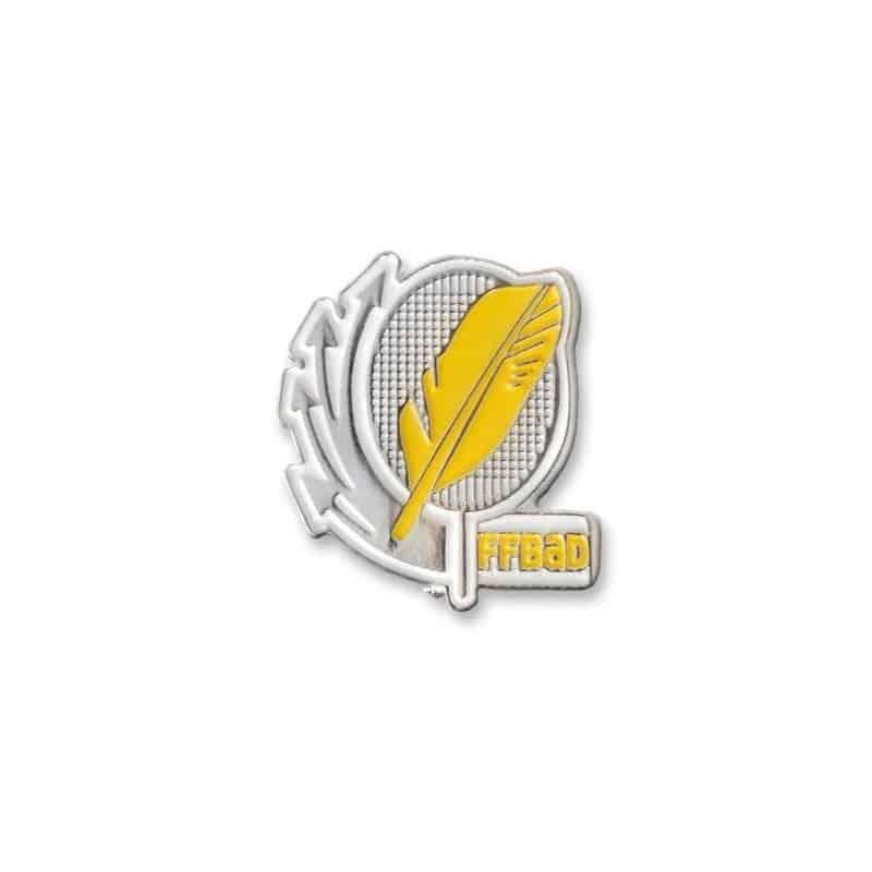 Pack de 10 Broches jaunes FF-Badminton