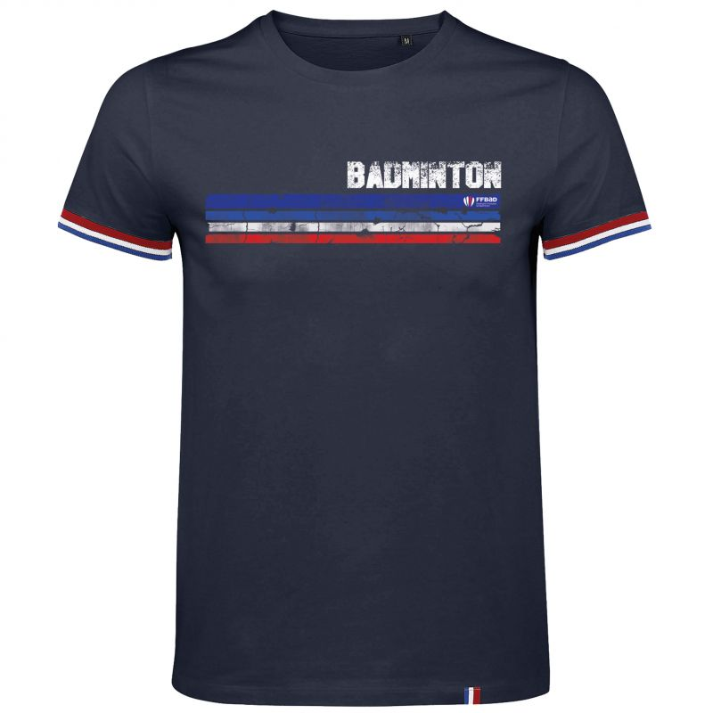 T shirt MARINE French Touch BADMINTON