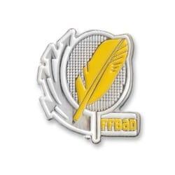 Broches jaunes FF-Badminton
