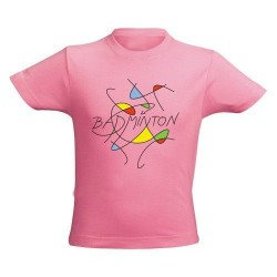 T-shirt Enfant Badminton Abstract rose