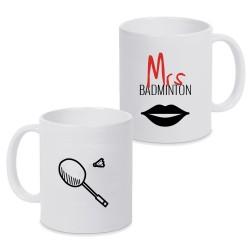 Mug Mrs Badminton - Fête des mères